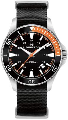 Hamilton Khaki Navy Scuba Automatic Canvas Strap Watch, 40mm