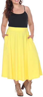 WHITE MARK White Mark Tasmin Womens Stretch Flared Skirt-Plus