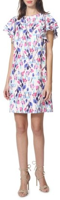 Women's Donna Morgan Chiffon Floral Shift Dress $118 thestylecure.com