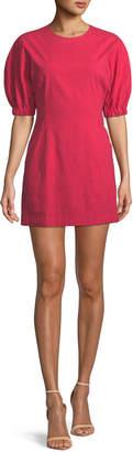A.L.C. Valenti Blouson-Sleeve Mini Dress
