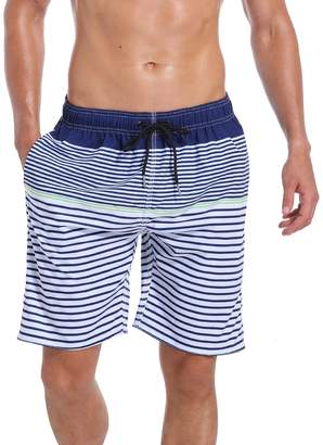 d36f0dcad432f Trunks QRANSS Mens Swim Quick Dry Beach Wear Shorts Mesh Lining Swimwear  Bathing Suits Navy