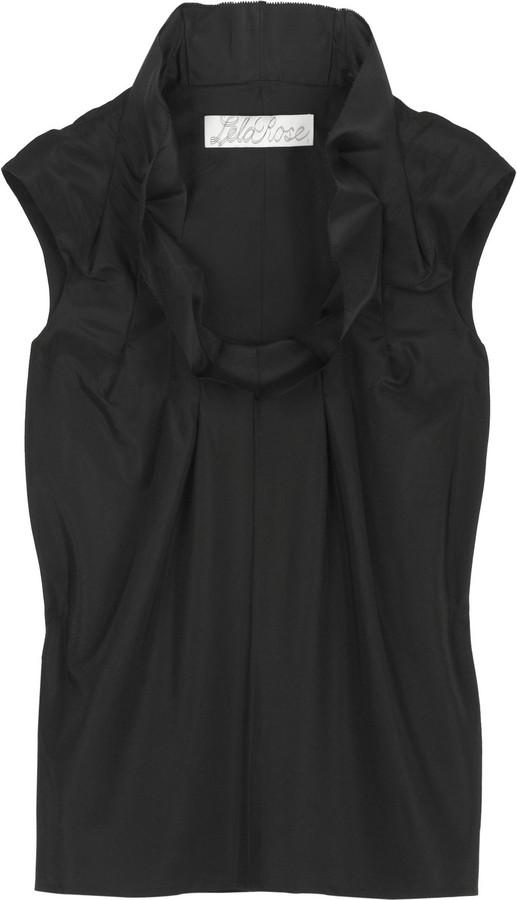 Lela Rose Silk taffeta blouse