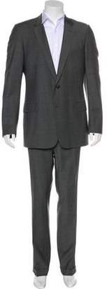 Christian Dior Glen Plaid Wool Cuffed Suit