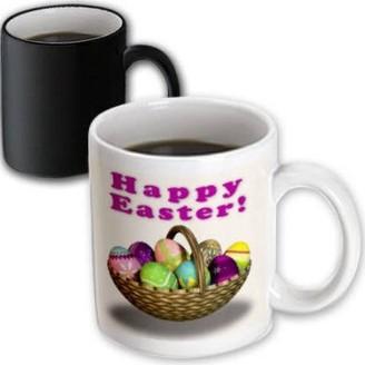 3dRose Easter Eggs Basket, Magic Transforming Mug, 11oz