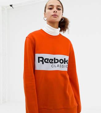 Reebok Classics bright orange logo sweatshirt