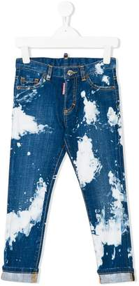 DSQUARED2 bleached slim fit jeans
