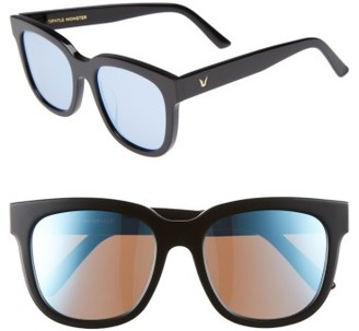 Women's Gentle Monster Salt 55Mm Sunglasses - Black/ Blue Mirror $215 thestylecure.com