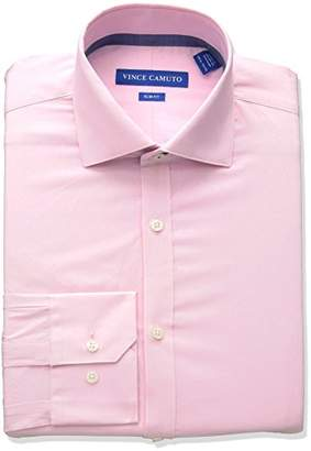 4a9e469f Vince Camuto Men's Slim Fit Performance Coral Diamond Dobby Dress Shirt