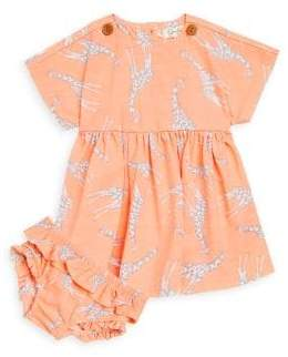 Jessica Simpson Baby Girl's Two-Piece Printed Dress and Ruffled Bloomer Set