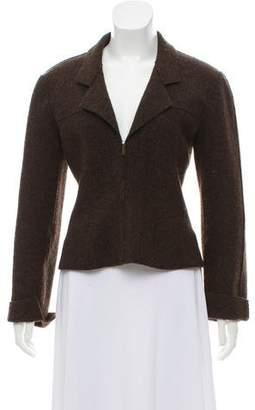 Chanel Wool Zip-Up Jacket