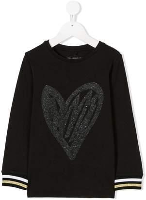 Stella McCartney glitter heart sweatshirt
