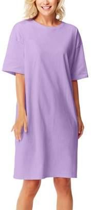 Hanes Womens Cotton Wear-Around Crew Neck T-shirt