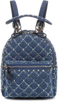 Valentino Rockstud Spike Mini denim backpack
