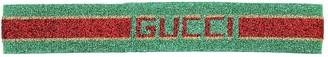 Gucci Logo Jacquard Lurex Headband