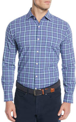 Peter Millar Men's Fisherman's Wharf Plaid Sport Shirt