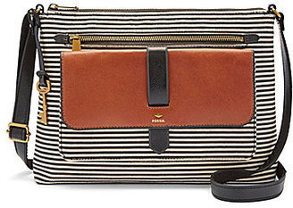 Fossil Kinley Striped Cross-Body Bag $138 thestylecure.com