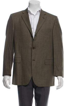 Burberry Houndstooth Wool Blazer
