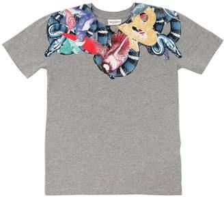 Marcelo Burlon County of Milan Snake Print Cotton Jersey T-Shirt
