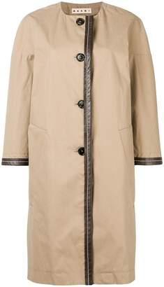 Marni crew neck oversized coat