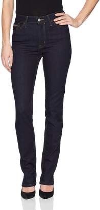 Calvin Klein Jeans Women's High Rise Straight Leg Denim Jean