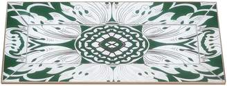 Small Reverse Painted Mirror Tray with Beveled Edge