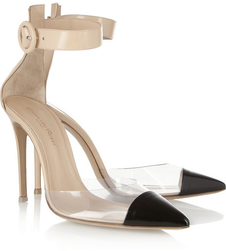 Gianvito Rossi PVC and glossed-leather pumps