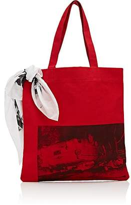 Calvin Klein Women's Canvas Tote Bag - Red