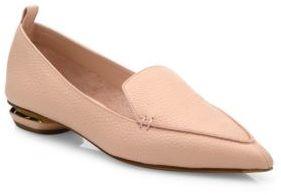 Nicholas Kirkwood Beya Leather Loafers $475 thestylecure.com