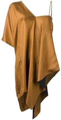 Maison Margiela asymmetric draped blouse