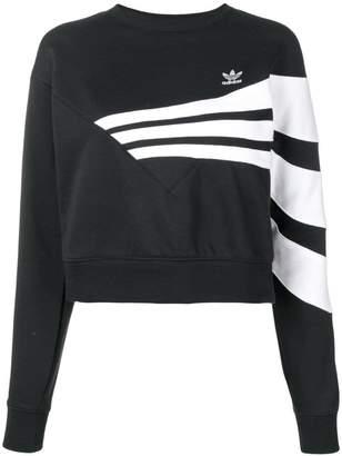 adidas cropped logo sweatshirt