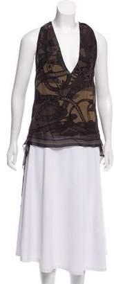 Barbara Bui Printed Sleeveless Top