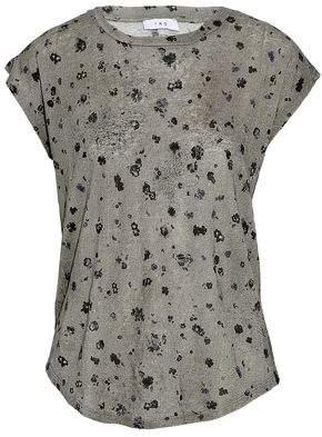 IRO Floral-Print Linen T-Shirt