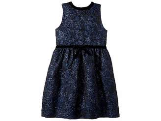 Oscar de la Renta Childrenswear Sleeveless Bow Front Fit and Flare Dress (Little Kids/Big Kids)
