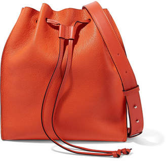 J.W.Anderson Drawstring Textured-leather Bucket Bag - Orange