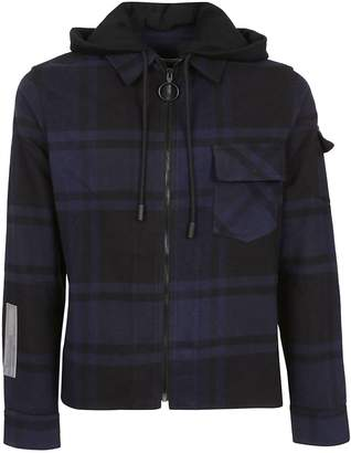 Off-White Off White Checked Hooded Jacket