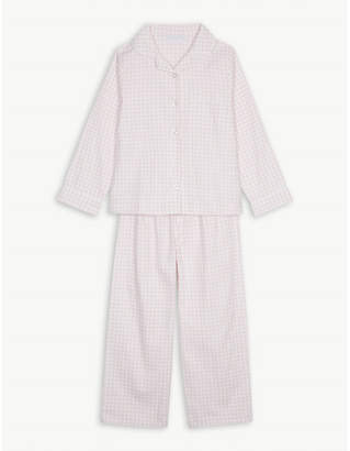 The Little White Company Gingham flannel pyjamas 1-6 years