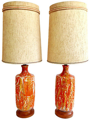 One Kings Lane Vintage Ceramic Lava-Glaze Lamps - Set of 2 - Jacki Mallick Designs