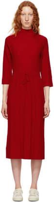 A.P.C. Red Viviane Knit Dress