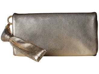 Tory Burch Beau Metallic Wristlet
