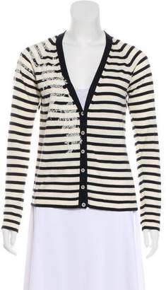 John Galliano Striped Knit Cardigan