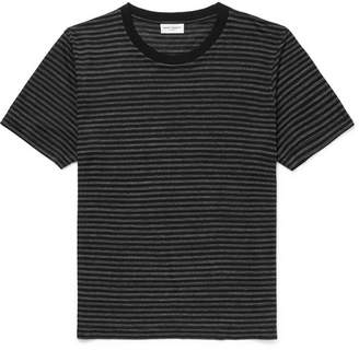 Saint Laurent Striped Jersey T-Shirt - Black