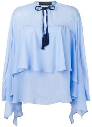 Christian Pellizzari draped blouse