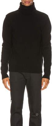 Raf Simons Turtleneck Knit Straps Sweater in Black | FWRD