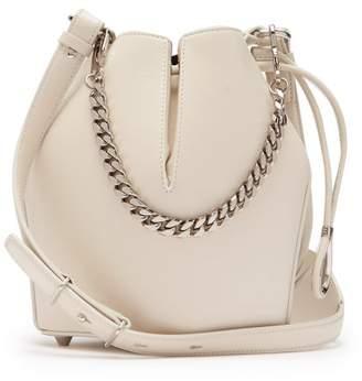 Alexander McQueen Bucket Leather Cross Body Bag - Womens - White