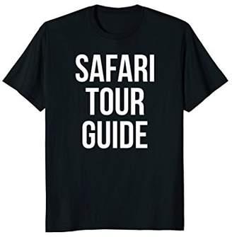 Safari Tour Guide Funny Easy Joke Halloween Costume T-Shirt