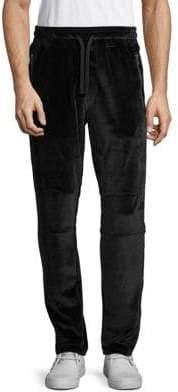 Velour Moto Pants