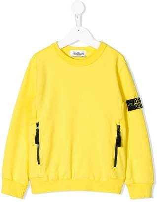 Stone Island Junior long-sleeve fitted sweater