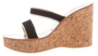 K Jacques St Tropez Dilan Suede Wedge Sandals
