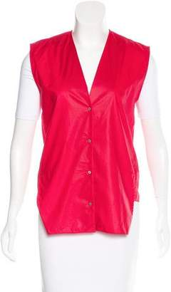 Helmut Lang Coated Woven Vest