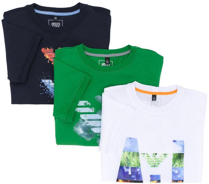 Armani JuniorArmani Junior set of three printed T-shirts